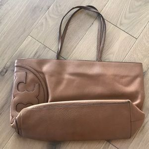 Used Tory Burch All T Tote Bark